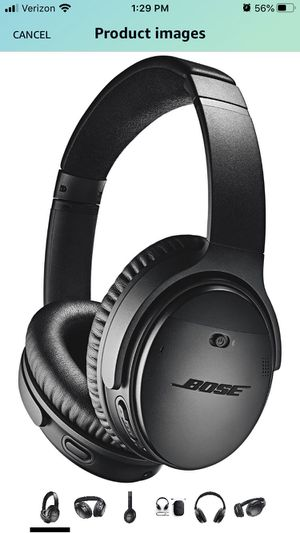 Bose QuietComfort 35 II Wireless Bluetooth Headphones, Noise-Cancelling, with Alexa voice control - Black for Sale in Fircrest, WA