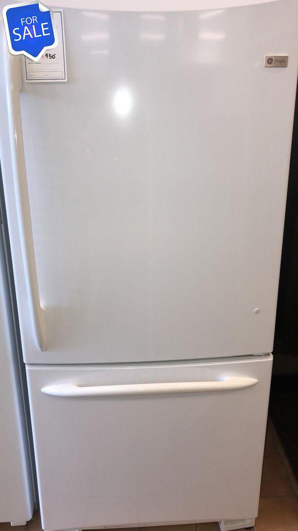 NO CREDIT!! GE CONTACT TODAY! Refrigerator Fridge Bottom Freezer #1474