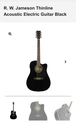 R. W. Jameson Thinline Acoustic Electric Guitar Black with a stand for Sale in San Diego, CA