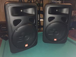 JBL EON G2 15 Speaker/Speaker Stands/Audio Technica Wireless Mic/Mackie Mixer DFX12 for Sale in Highland Park, IL