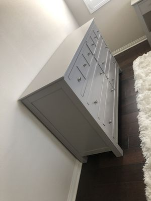 dresser and 2 night stands grey for Sale in Anaheim, CA