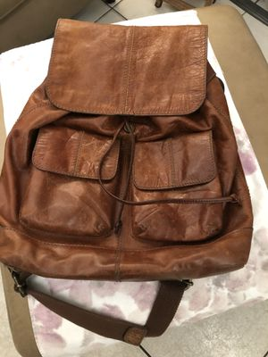 Fossil Leather Backpack (used) for Sale in Pembroke Pines, FL