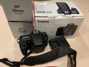 Canon 77D with 2 Lens for Sale in Silver Spring, MD