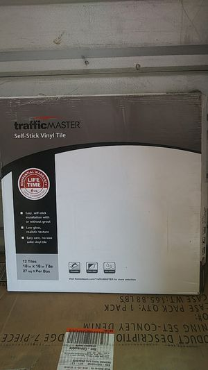 Traffic master self stick vinyl tile. for Sale in East Los Angeles, CA
