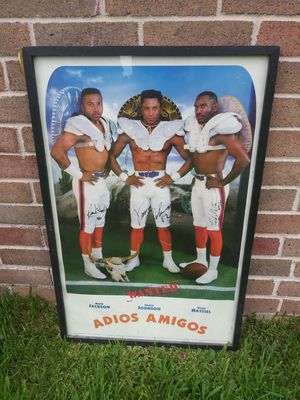 "Denver Broncos ""The Three Amigos"" Original Autographed Extra Large Photo for Sale in Houston, TX"