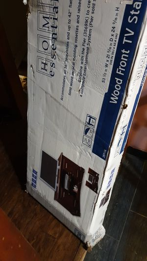 home essentials wood front tv stand for Sale in Columbus, OH