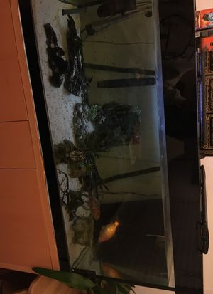 Custom built 100 gallon fish tank and stand for Sale in Daly City, CA