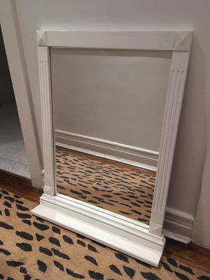 White Mirror with Shelf for Sale in Chicago, IL