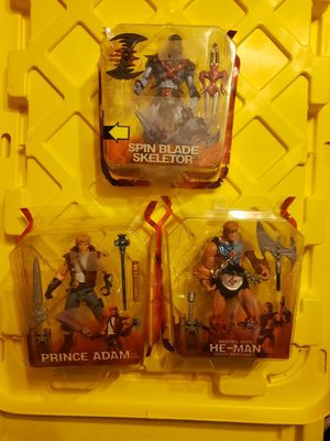 2002 masters of the universe, motu, he man, skeletor, and prince Adam for Sale in Festus, MO