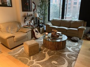 Tan Leather Sofa and Chair for Sale in Washington, DC