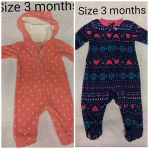 (2) Carter PJ's size 3 months for Sale in Renton, WA
