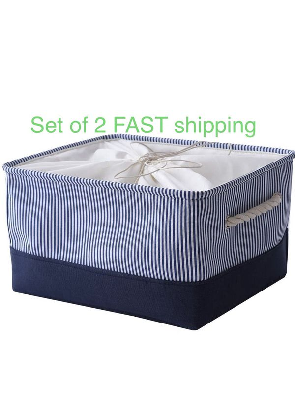 2 collapsible Storage bins containers baskets