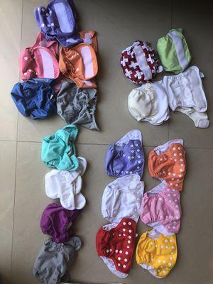 Newborn cloth diaper stash for Sale in Fort Lauderdale, FL