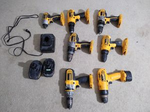 Drills used impact dwalt 2 battery 1 Charger for Sale in Manassas, VA