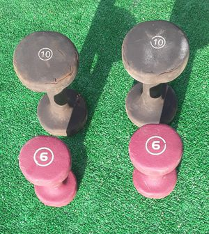 32lbs Soft Cover Dumbell Weights 2x10lbs 2x6lbs for Sale in Hollywood, FL