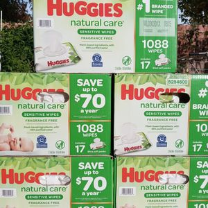 Huggies Natural Care Baby Wipes for Sale in Gardena, CA