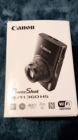 Canon Powershot Elph 360 HS 20.2mp camera for Sale in Hanford, CA