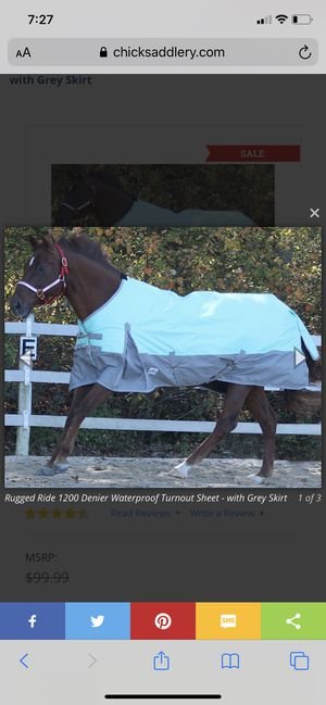 84 Rugged Ride Waterproof Turnout Sheet for Sale in Bonney Lake, WA