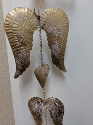 Metal Angel Wing and Hearts Wind Chime (Vintage Looking) for Sale in Rancho Cucamonga, CA