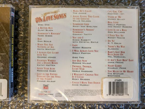 (4XCD) Pop in the 90s, Ultimate Love Songs, Classic Country 80s Love Songs, Singer Songwriter Classics (New/Sealed) Time Life Music