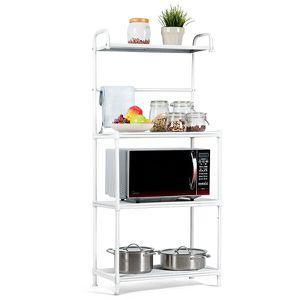 4-Tier Baker's Rack Microwave Oven Rack Shelves Kitchen Storage Organizer White for Sale in Huntington Park, CA