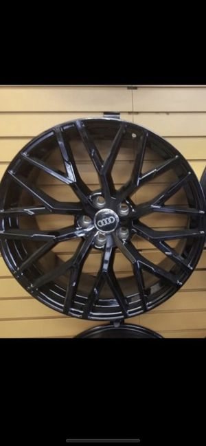 """Audi 19"""" new gloss blk RS style rims tires for Sale in Hayward, CA"""