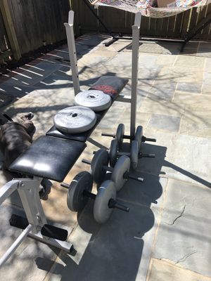 Weight bench and weights for Sale in Burke, VA