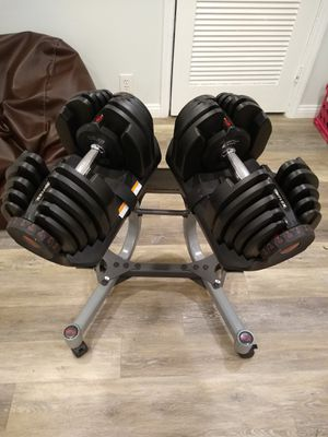 Bowflex SelectTech 1090 Dumbbells w/ Stand - Adjustable Weight System for Sale in Clearwater, FL