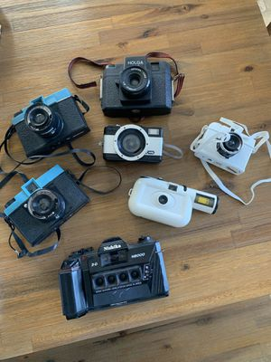 Nishika N8000 w/ other film cameras for Sale in Vista, CA