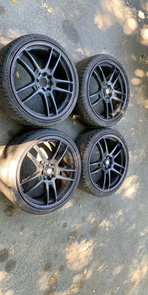 18 inch 4 lug black rims for Sale in Rancho Cucamonga, CA
