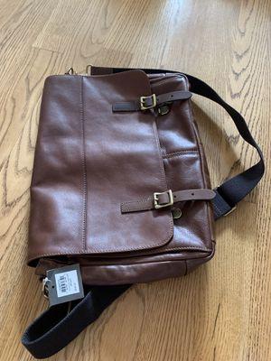 Fossil defender messenger bag all leather for Sale in Austin, TX