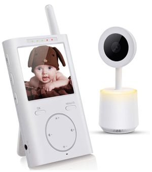 Baby Monitor, Letsfit 2.4GHz Wireless Camera and Audio, Night Light, White Noise, 8 Lullabies, VOX, Infrared Night Vision 2 Way Talk with Carry Clip for Sale in Monterey Park, CA