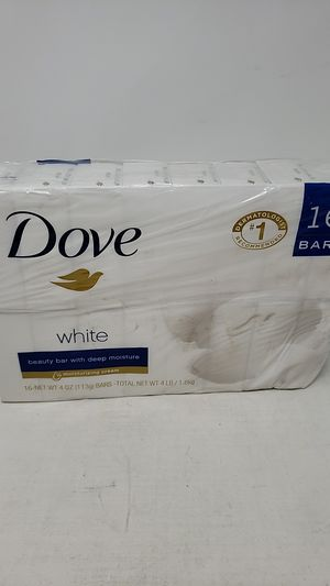 Pack of 16 Dove White Beauty Bar with Deep Moisture Soap for Sale in Fresno, CA