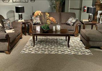 Miltonwood Teak Living Room Set (SOFA and LOVESEAT for Sale in Round Rock,  TX