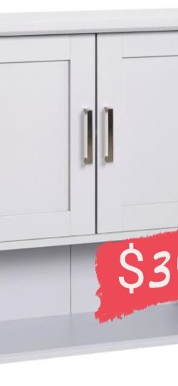 Glacier Bay Shaker Style 23 in. W Wall Cabinet with Open Shelf in Dove Gray for Sale in Bell Gardens,  CA