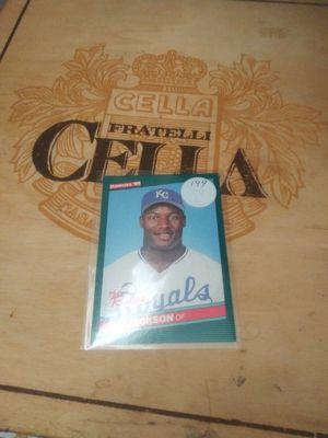 Rare bo jackson kansas city baseball card. for Sale in Forest Park, GA