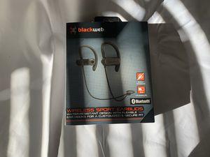 Black web wireless Bluetooth sport earbuds black for Sale in Casselberry, FL
