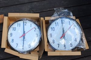 Dukane Electric Mounted Industrial Analog Clocks. for Sale in Portland, OR