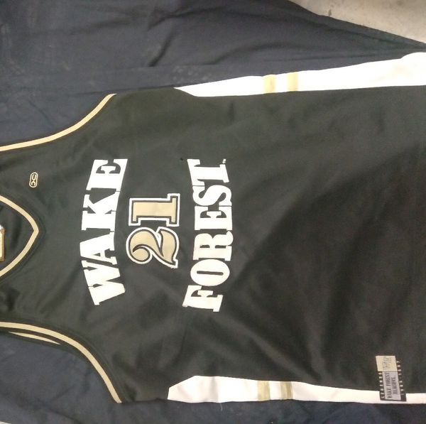 Wake Forest number 21 basketball jersey throwback
