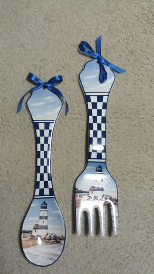 BEAUTIFUL LIGHTHOUSE THEMED FORK & SPOON WALL DECOR BY GIFTS FROM FASHIONCRAFT. for Sale in East Syracuse, NY