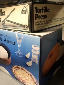 Vintage Tortilla Press & Tortilla Warmer for Sale in Fairfax,  VA