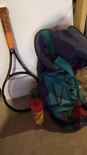 Tennis 🎾 Racket, Bag and Balls for Sale in Everett, WA