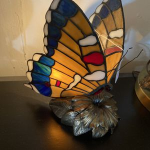 Stained Glass Butterfly Lamp for Sale in Crosby, TX