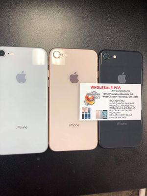 iPhone 8 unlocked plus warranty for Sale in Glendale, OH