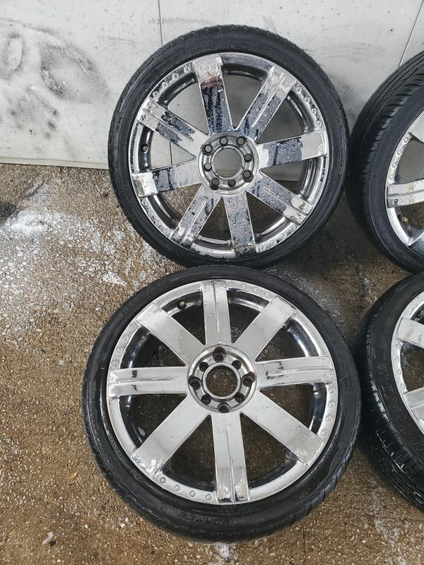 4 17 in 4x100 4x114.3 wheels rims tires