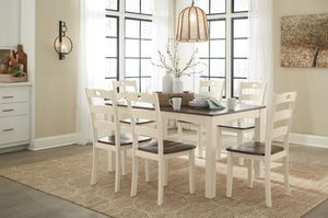 Woodanvilllle Cream/Brown 7-Piece Dining for Sale in Towson, MD