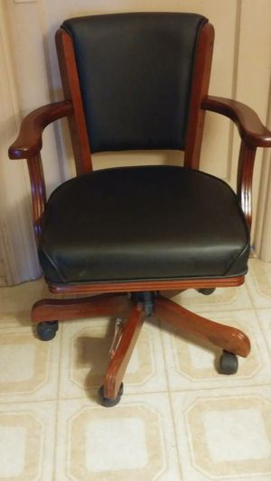 New Swivel Chair Coaster Fine Furniture cherry wood poker table game chair for Sale for sale  Queens, NY