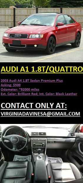 Audi A4-2003 Quattr0 Ultrasp0rt 5/SPEED AUT0MATIC Transmisssi0n for Sale in Chicago, IL