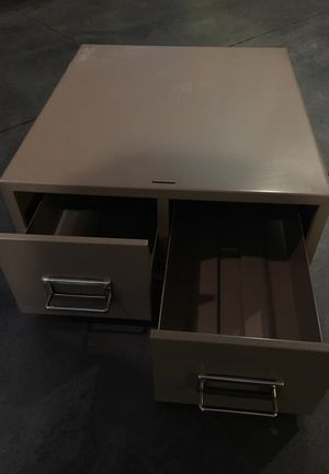 Two drawer office card filing unit (holds recipe/ index size cards) for Sale in Seattle, WA