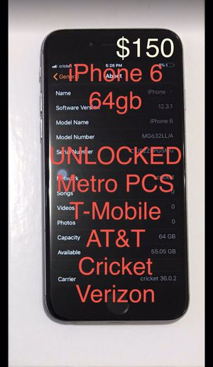 UNLOCKED - iPhone 6 (64gb) - AT&T Cricket Metro PCS T-Mobile Mint Ting Verizon for Sale in San Francisco, CA